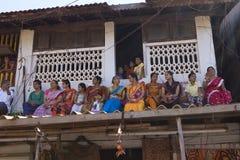 GOKARNA, ИНДИЯ - 11-ОЕ МАРТА: Люди в Gokarna, Индии 11-ого,20 марта Стоковые Изображения RF