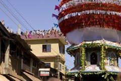 GOKARNA INDIA, Feb, - 27: Ludzie świętują Mahashivratri łanię Zdjęcia Stock