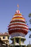 GOKARNA INDIA, Feb, - 27: Ludzie świętują Mahashivratri łanię Fotografia Stock