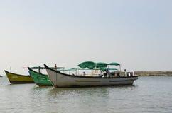 Three Boats on the sea stock photos