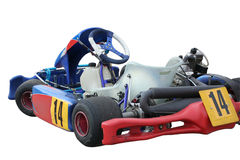Gokart. Isolated kart on white background Royalty Free Stock Images