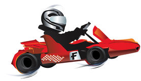 Gokart illustration stock
