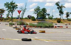 Gokart Race Royalty Free Stock Photo