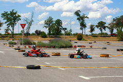 Gokart Race Stock Image