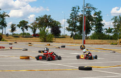 Gokart Race Royalty Free Stock Images