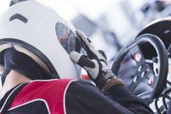 Gokart racer ready for race Royalty Free Stock Photo