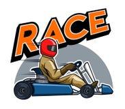 Gokart Racer. Vector illustration for go kart race theme Royalty Free Stock Images