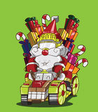 Gokart reindeer style. Santa Claus delivery the gifts Stock Photography