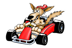 Gokart Wolf - Isolated Stock Photo