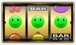 Gokautomaat, gelukkig gokken, Stock Afbeeldingen