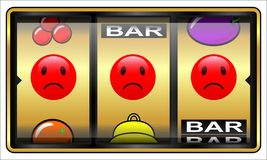 Gokautomaat, het gokken, verliezer Stock Foto's
