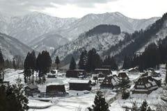Gokayama历史的村庄  免版税库存照片