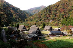 Gokayamadorp Japan Stock Afbeelding