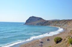 Пляж на Gokceada Стоковое фото RF