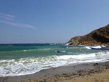 Gokceada Turquie en paysage côtier, mer propre et belles plages Photos libres de droits