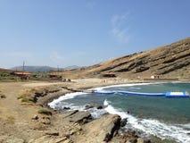Gokceada Turquie en paysage côtier, mer propre et belles plages photographie stock libre de droits
