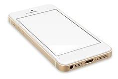 Gold smartphones. Stock Photo