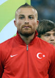 Gokhan Tore in Romania-Turkey World Cup Qualifier Game Royalty Free Stock Image