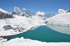 Gokio jezioro w Nepal Zdjęcia Stock