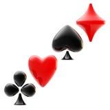 Gokkend embleem van speelkaartkostuums dat wordt gemaakt Stock Foto