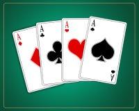 Gokkende kaarten Stock Foto's