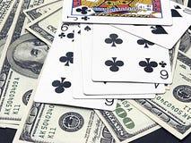 Gokkende kaarten Royalty-vrije Stock Foto's