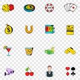 Gokkende vastgestelde pictogrammen Royalty-vrije Stock Foto's