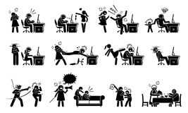 Gokkenwanorde en gokkenverslaving royalty-vrije illustratie