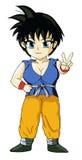 Goku femelle illustration stock