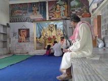 Gokul -- παιδική ηλικία του krishna Λόρδου Shri Στοκ Φωτογραφία