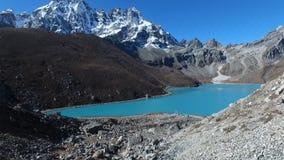 Gokyo湖在喜马拉雅山 股票视频