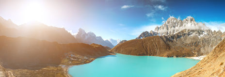 Gokyo Lake in Nepal Royalty Free Stock Images