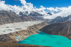 Gokyo lake view from Gokyo Ri Royalty Free Stock Photo