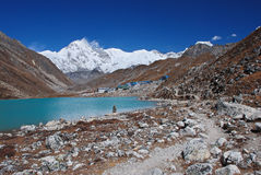 Gokyo lake and village, Himalayas, Nepal Royalty Free Stock Photos