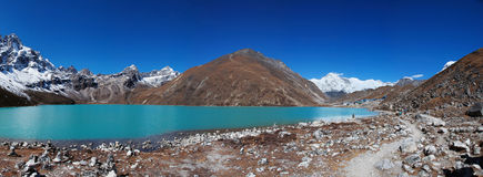 Gokyo lake and village, Himalayas, Nepal Stock Images