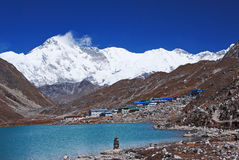 Gokyo lake and village, Himalayas, Nepal Stock Photo