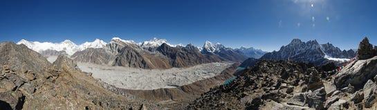Gokyo Ri Himalayan Summit Panorama Stock Image