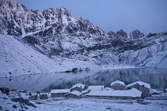 Gokyo Village at Dawn Royalty Free Stock Photos