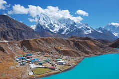 Gokyo village, Himalayas, Nepal Royalty Free Stock Photo
