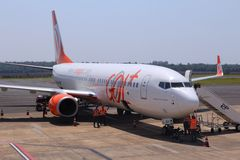 Gol Airline Brasilien Arkivbilder