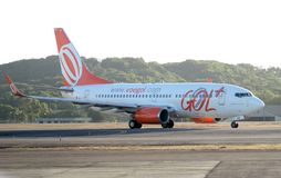 Gol Airlines Airplane Stockfotografie