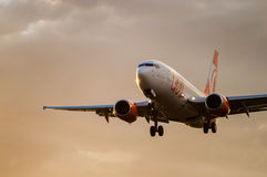 Gol Airlines Landing Royaltyfri Bild
