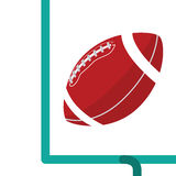 Gol de campo do futebol americano Imagem de Stock Royalty Free