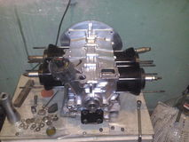 Gol 1 del motor 6 AR Volkswagen Imágenes de archivo libres de regalías