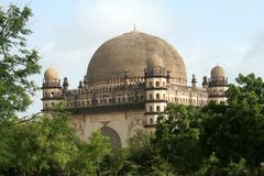 Gol Gumbaz amidst Greenery. Gol Gumbaz, the second biggest dome in the world, at Bijapur in Karnataka, India, Asia Stock Photos