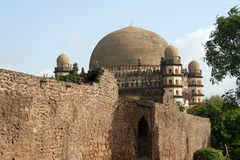 Gol Gumbaz behind Wall Stock Images