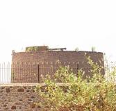 Gol gumbaz cannon on tower in grounds bijapur Karnataka india Stock Photo