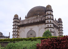 Gol Gumbaz is the mausoleum of Adil Shah. Sultan of Bijapur. The tomb, located in Bijapur, Karnataka in India, was completed in 1656 by the architect Yaqut of Royalty Free Stock Image