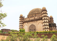 Gol gumbaz palace and  mausoleum bijapur Karnataka india. Magnificent  palace mausoleum of Mohammed Adil Shah, Sultan of Bijapur,located in a huge grounds Stock Photo