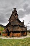 Gol, igreja de madeira em Noruega Fotografia de Stock